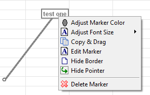 Text Box Right-Click Menu