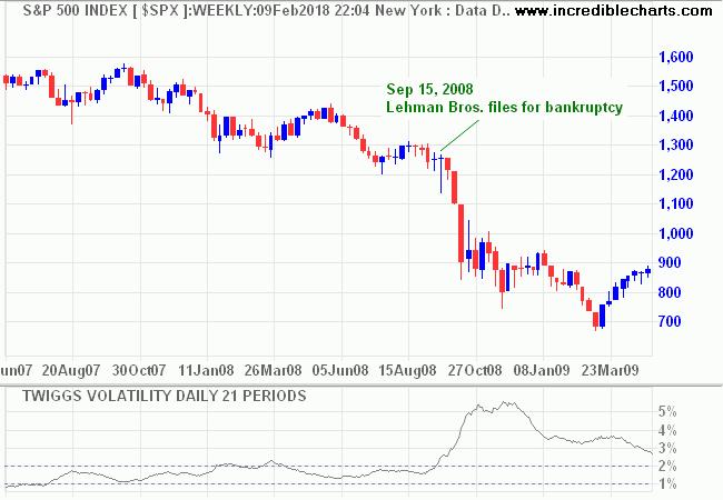 S&P 500 in 2008