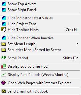 advanced options menu