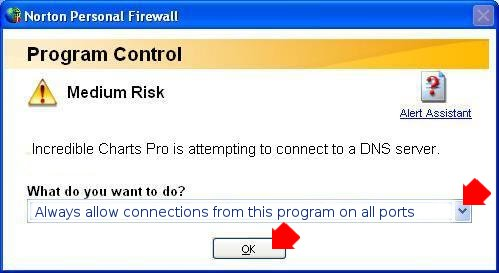 allow connections from this program
