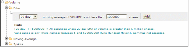 volume stock screener 