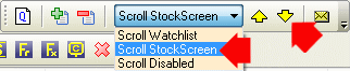 stock screen scroll arrows