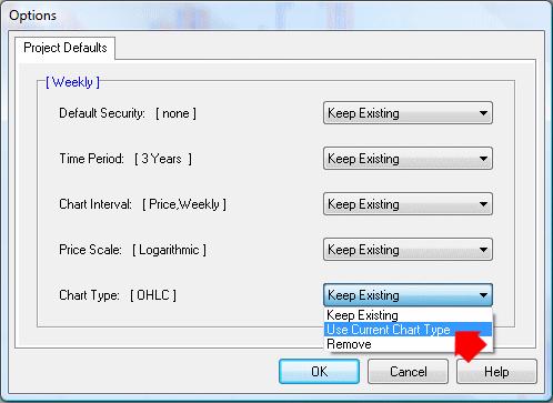 set project defaults