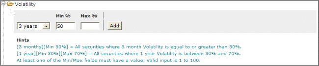 volatility stock screener