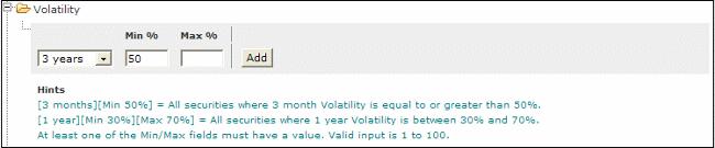 volatility stock screener