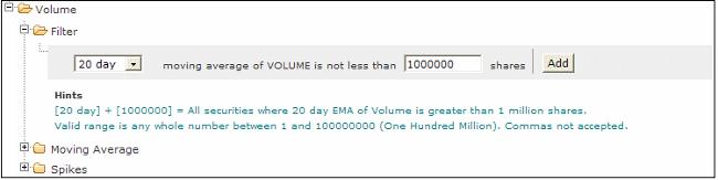 volume stock screener